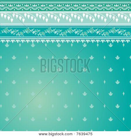 Blue Sari Pattern