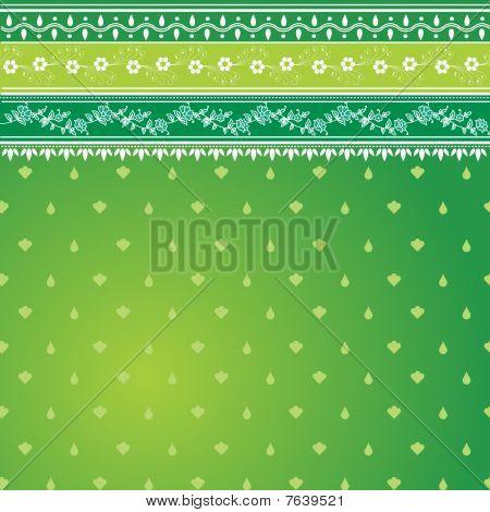 Green Sari Pattern