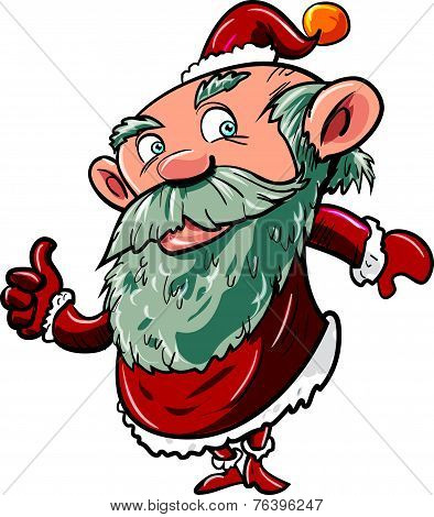 Cartoon santa giving thumbs up