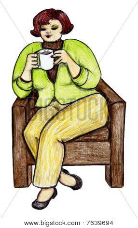Curvy Coffee Drinker