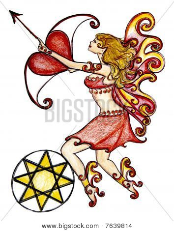 Love Fairy With Cupids Arrow