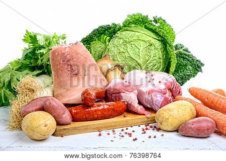 Vegetables And Meat For The Pot-au-feu