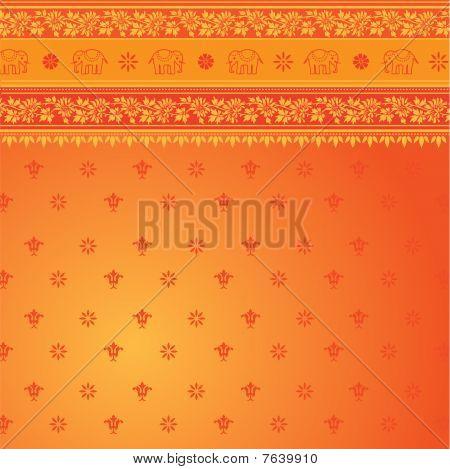 Orange Sari Pattern