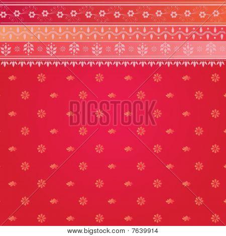 Pink Sari Pattern