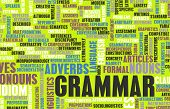 picture of nouns  - Grammar Learning Concept and Better English Art - JPG