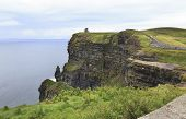 image of cliffs moher  - Cliffs of Moher and Atlantic Ocean - JPG