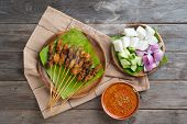 picture of sate  - Hot and spicy Asian dish - JPG