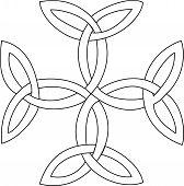 stock photo of triquetra  - Triquetras cross symbol - JPG