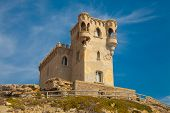 stock photo of tarifa  - Old fort in Tarifa Spain  - JPG
