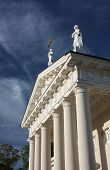 picture of stanislaus church  - Fragment of the St. Stanislaus Cathedral in Vilnius, Lithuania