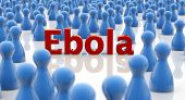 pic of hemorrhage  - word ebola in a crowd of blue pawns - JPG