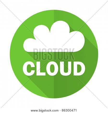 cloud green flat icon