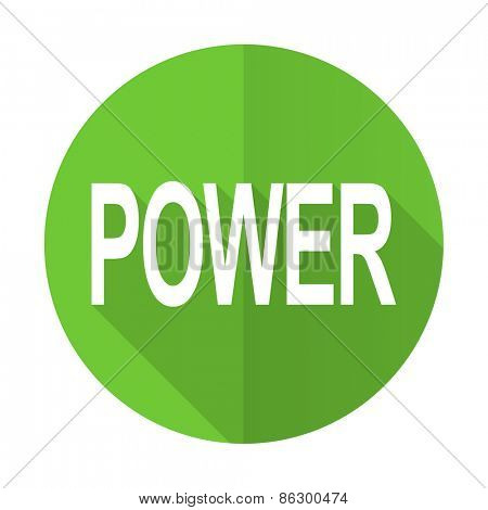 power green flat icon