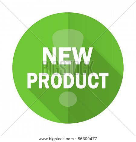new product green flat icon