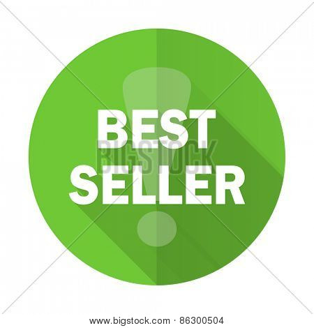 best seller green flat icon