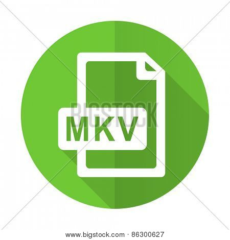 mkv file green flat icon