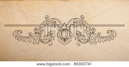 Vector Floral Vignette Divider