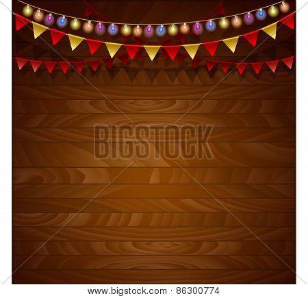 Festive  Wooden background.