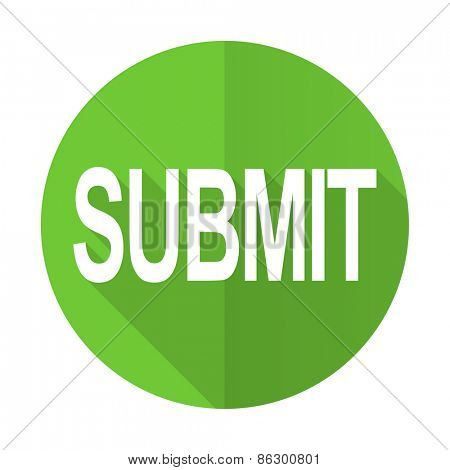 submit green flat icon