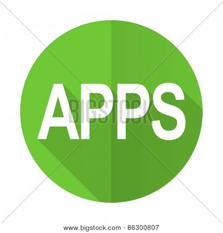 apps green flat icon