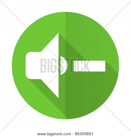 speaker volume green flat icon music sign