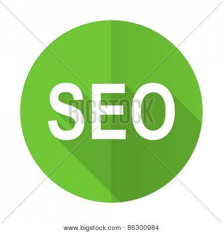 seo green flat icon