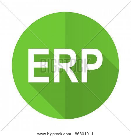 erp green flat icon