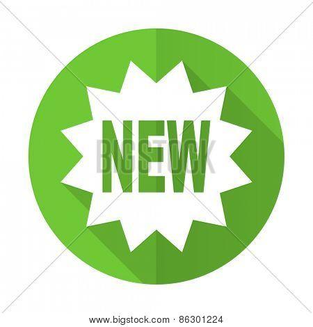 new green flat icon