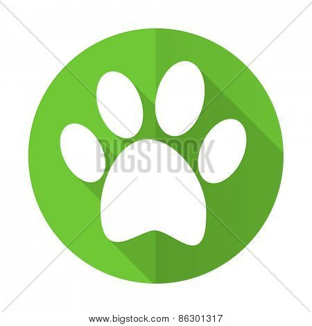 footprint green flat icon