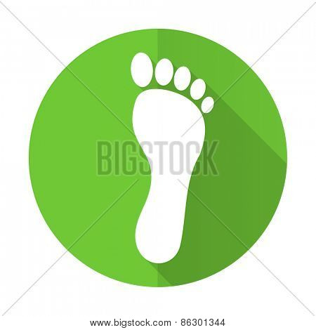 foot green flat icon
