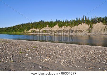 Sandy Shores Of The Ural River Lemva.