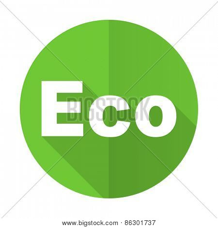 eco green flat icon ecological sign