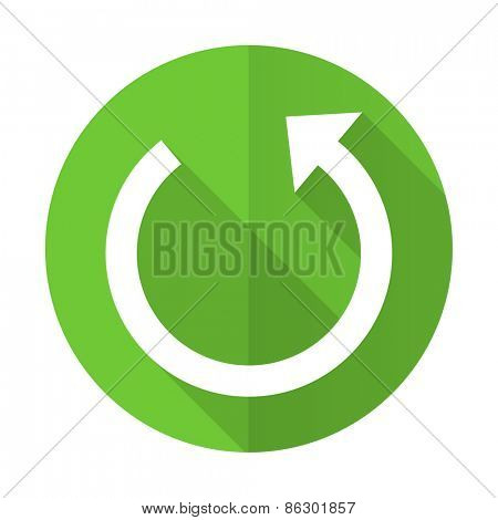 rotate green flat icon reload sign