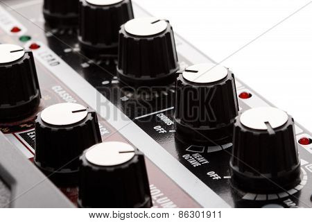 Guitar Amplifier Effects Knobs