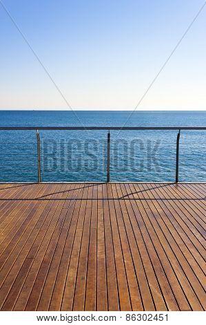 Empty Ocean Viewpoint Deck