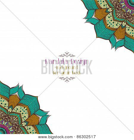 Background with ethnic abstract ornament