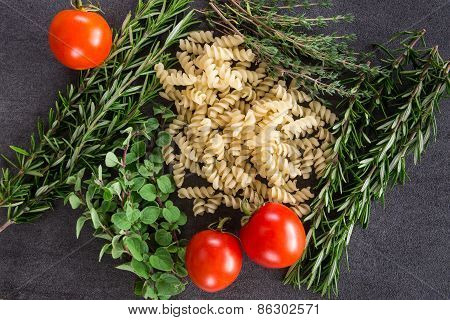Pasta Herbs And Tomatoes