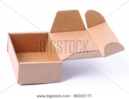 Carton box on a white background