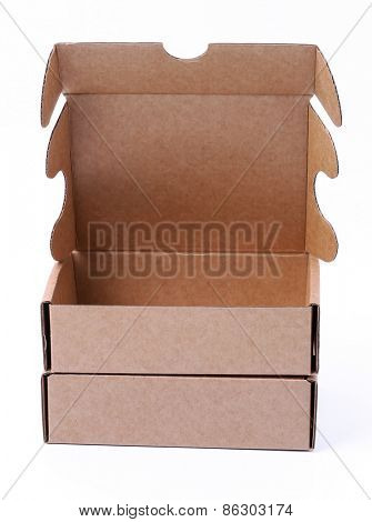 Carton boxes on a white background
