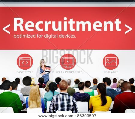 Recruitment Hiring Jobs Human Resources Seminar Conference Concept