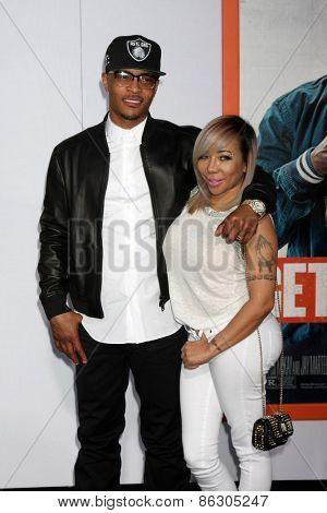 LOS ANGELES - MAR 25:  Clifford Harris Jr., aka T.I., Tameka Cottle-Harris, aka Tiny at the