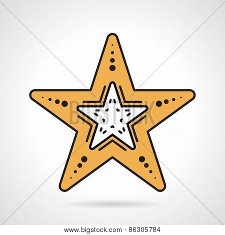 Starfish flat style vector icon