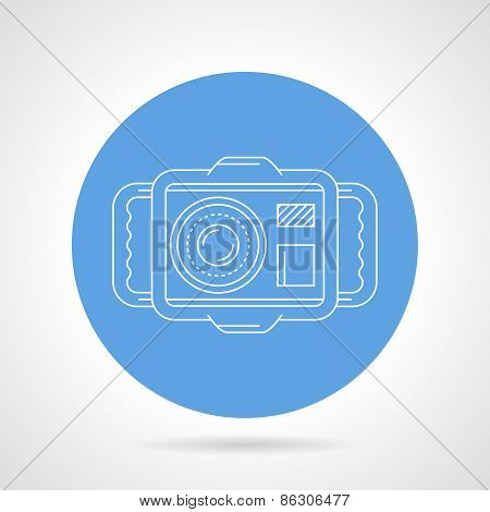 Diving camera round vector icon
