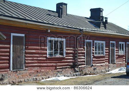 Old Wooden Building In Lappeenranta, Finland.