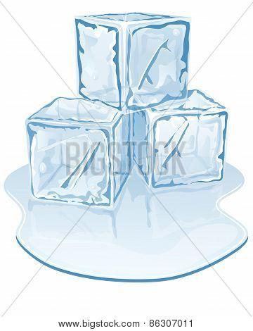 ice cube pile