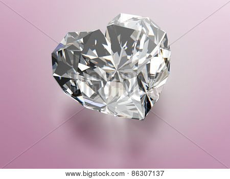 Diamond  heart shape. Jewelry background