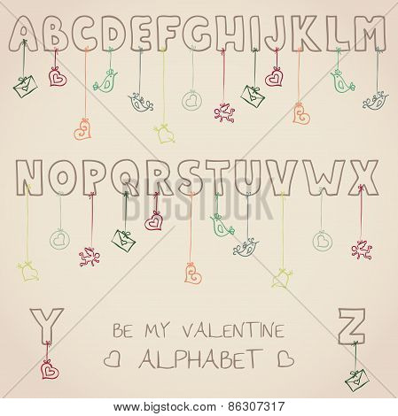 Be My Valentine Alphabet