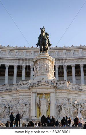 Rome, Italy - January 27, 2010: Altare Della Patria