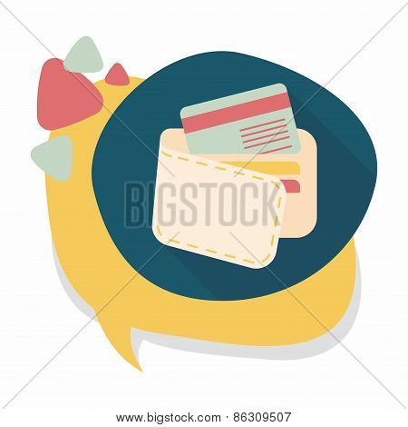 Shopping Wallet Flat Icon With Long Shadow,eps10