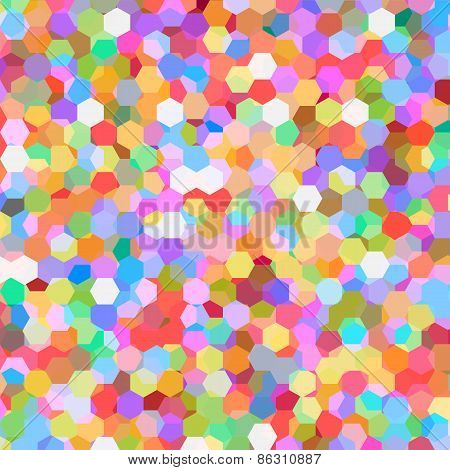 Abstract background with colorful hex polygons